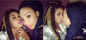 Cucumber Alert! Two Nigerian 'Alleged' Lesbian Girls Flaunt their Sizzling Romance on Facebook (Photo)